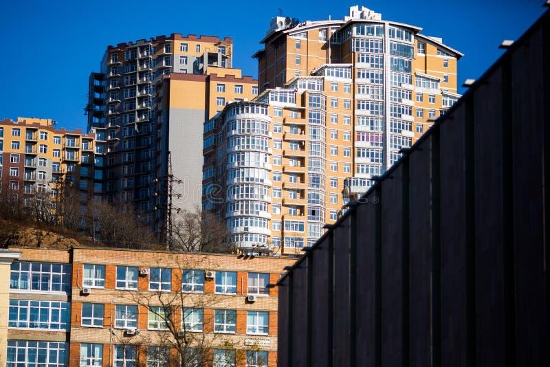 Rues de Vladivostok - la capitale de l'Extrême Orient photo stock