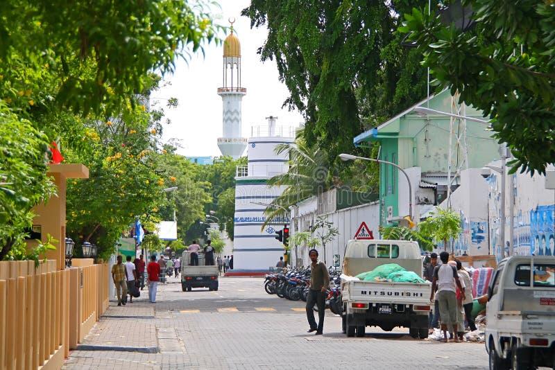 Rues du mâle, capitale des Maldives photographie stock libre de droits