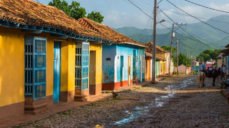 Rues du Trinidad photos stock
