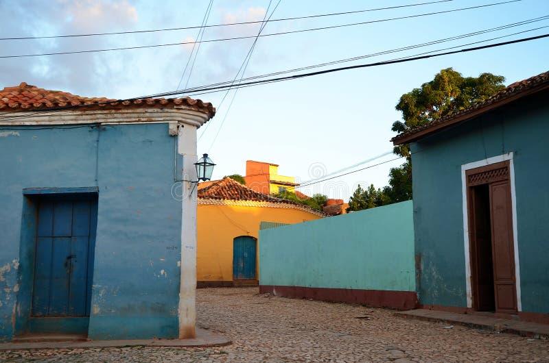 Rues du Trinidad colonial, Cuba images libres de droits