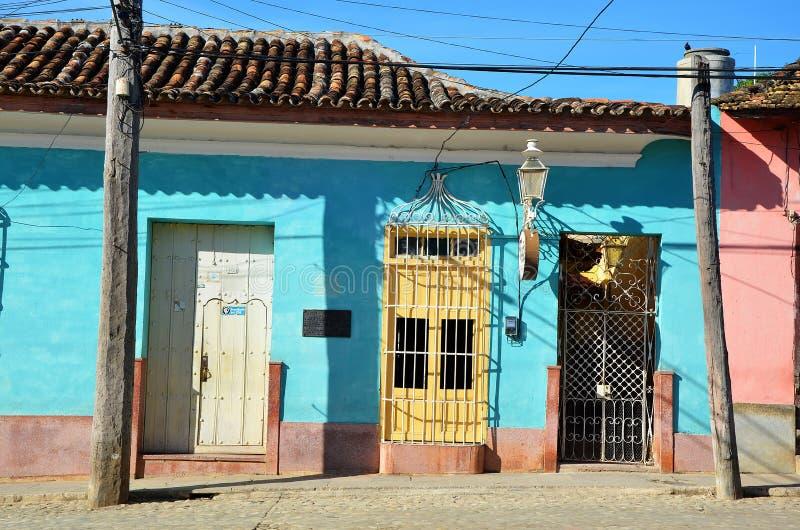 Rues du Trinidad colonial, Cuba photo stock