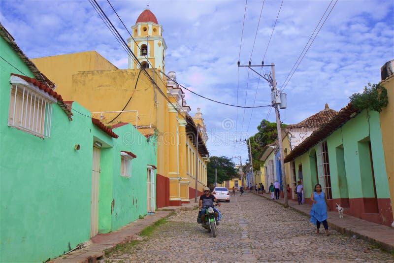 Rues du Trinidad, Cuba image stock