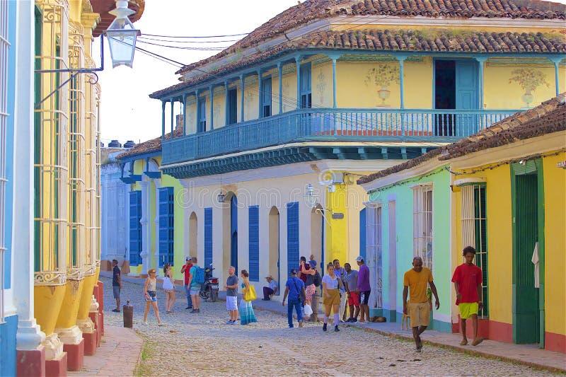 Rues du Trinidad, Cuba photo libre de droits