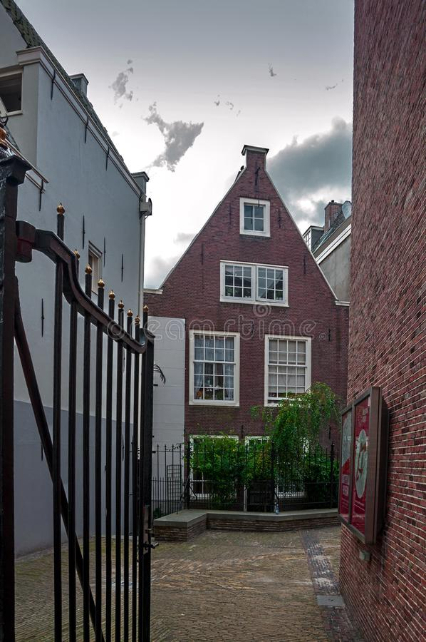 Rues et canaux d'Amsterdam photo stock