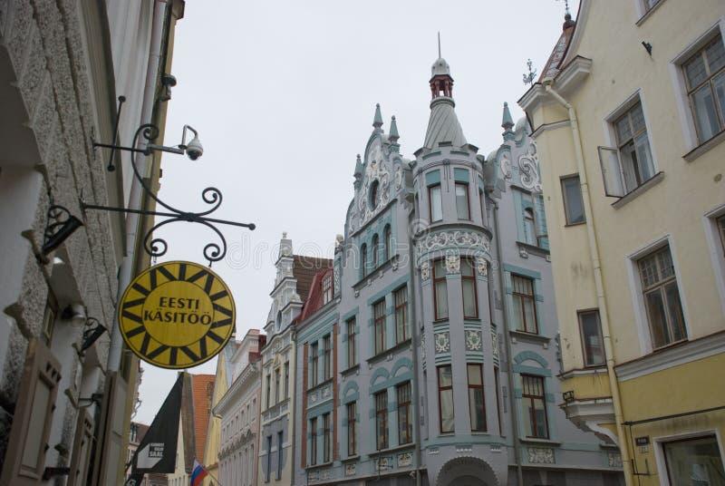 Rues et maisons de Tallinn, Estonie image stock