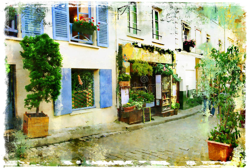rues parisiennes images stock