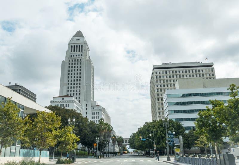 Rues urbaines de Los Angeles, la Californie, Etats-Unis Endroits de touristes de Los Angeles images stock