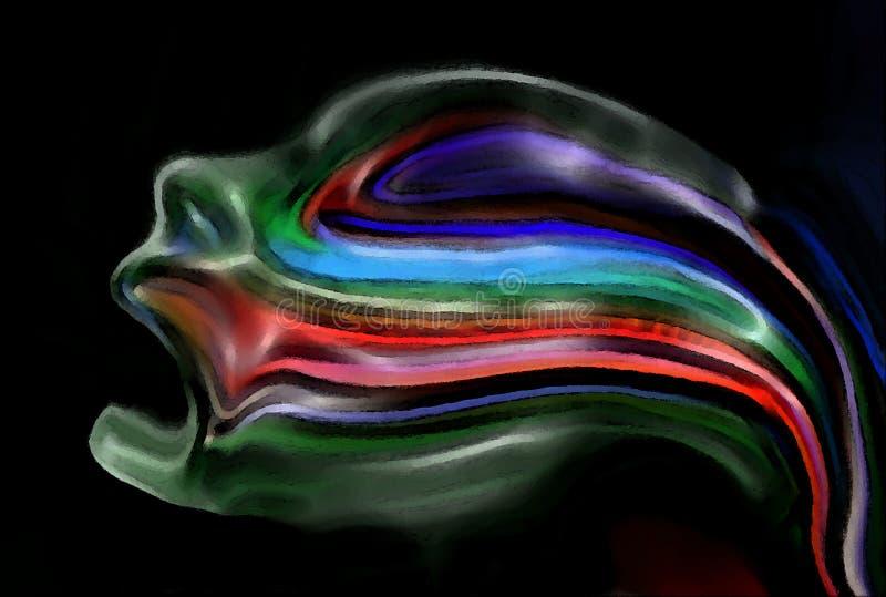 Ruf in der schwarzen Ruhe. vektor abbildung