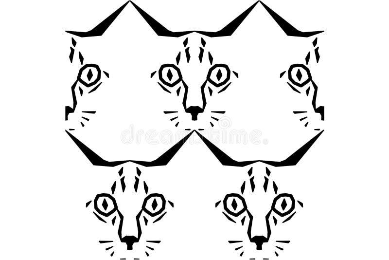 Rufen Sie mich Cat Pattern an lizenzfreie stockfotos