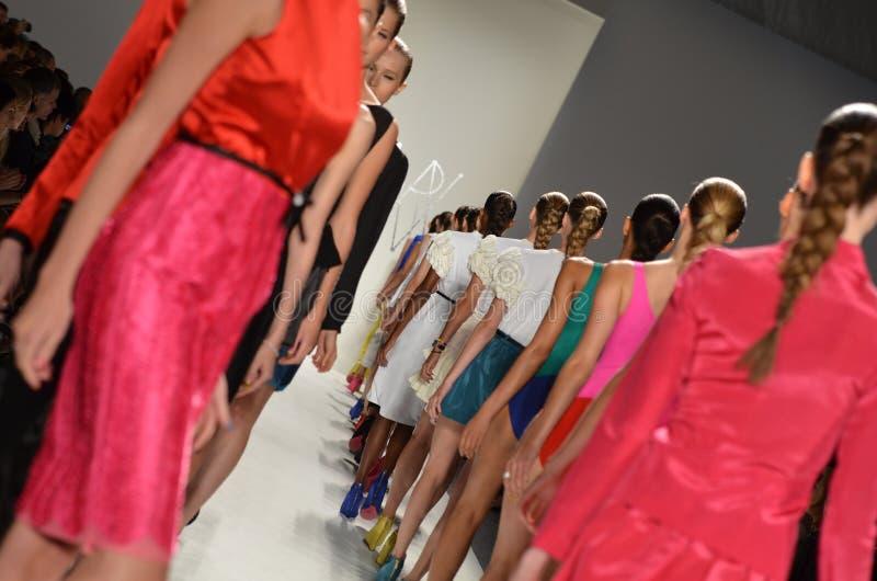 Ruffian - модный парад New York стоковое изображение rf