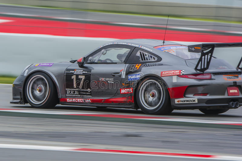 Ruffier Racing Team. Porsche 991. 24 hours of Barcelona stock photography