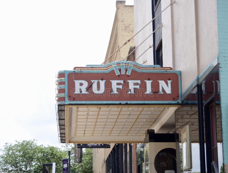 Ruffin Theater, Covington, Tennessee photographie stock