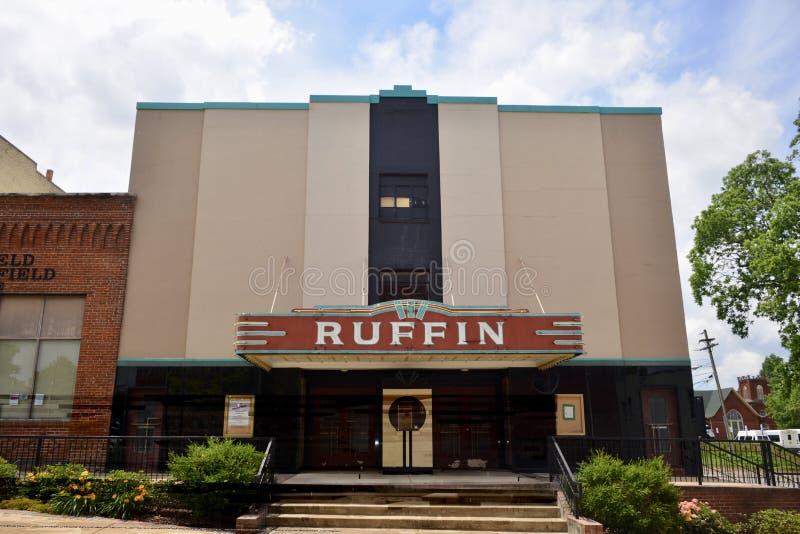 Ruffin Theater et Live Play Center, Covington, Tennessee photo libre de droits