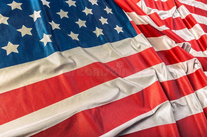 Ruffled American flag royalty free stock photos