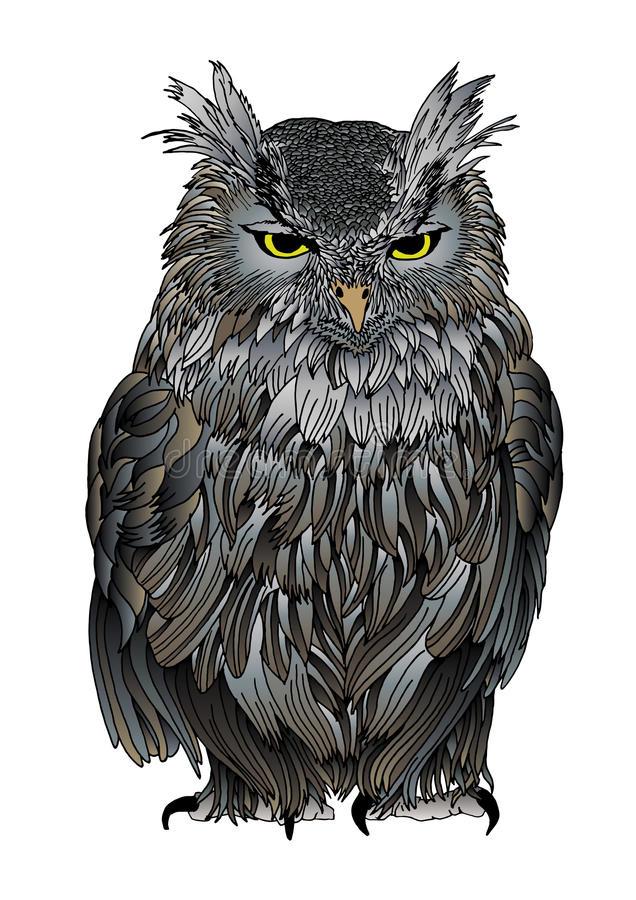Free Ruffled Old Owl Stock Images - 27585914