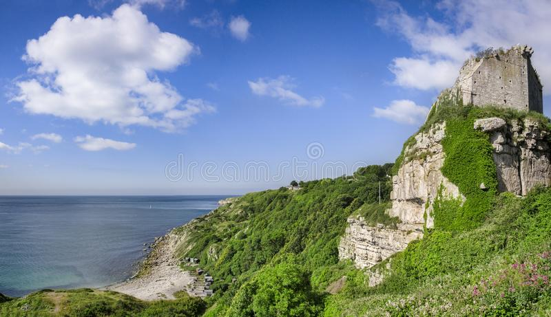 Rufus Castle, Dorset Reino Unido foto de stock
