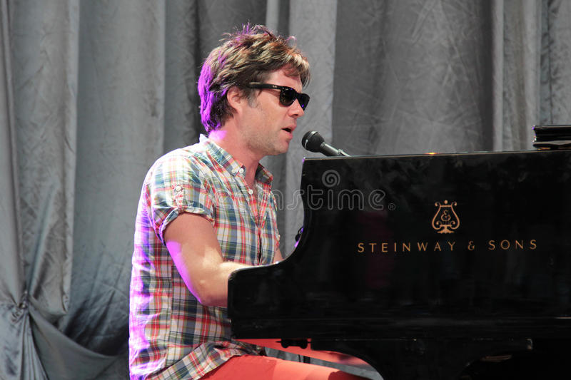 Rufus Wainwright performing live at Cruilla Barcelona Festival. stock photography