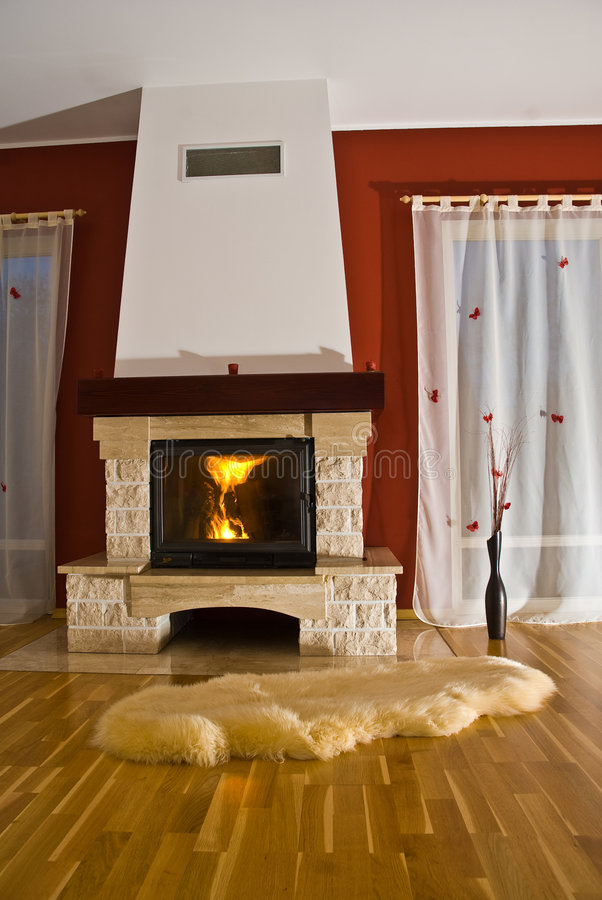 Download Rug and fireplace stock image. Image of indoor, fireplace - 4603029