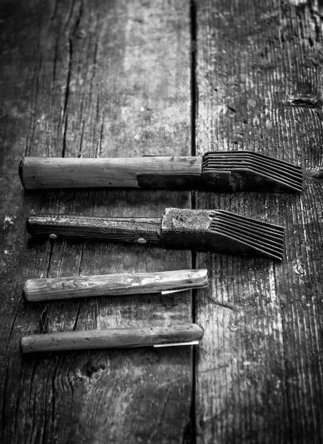 Rug Weaving tools stock photography