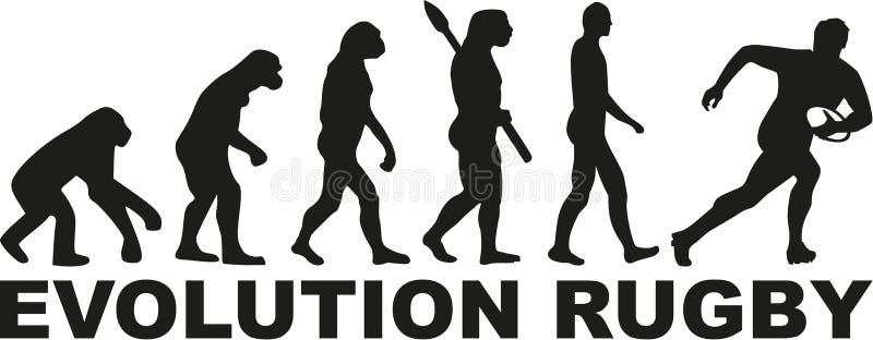 Rugbi de la evolución ilustración del vector