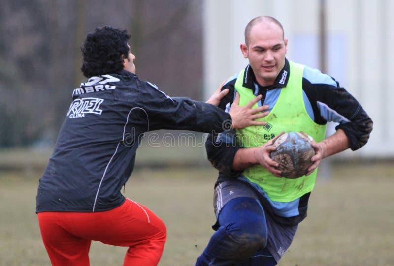Rugbyâs albanische Nationalmannschaft geboren in Italien stockfotos