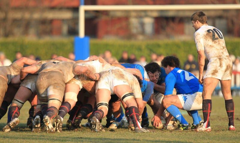 Rugby 2010 de nations de RBS 6 ; l'Italie A contre des saxons de l'Angleterre photos libres de droits