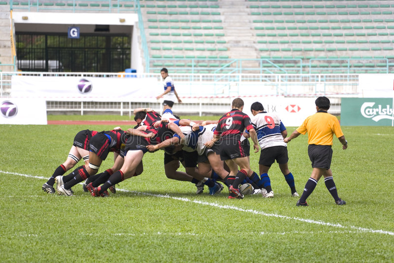 Rugby stock afbeelding