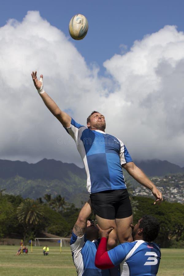 Rugby-Auftrieb stockfotografie