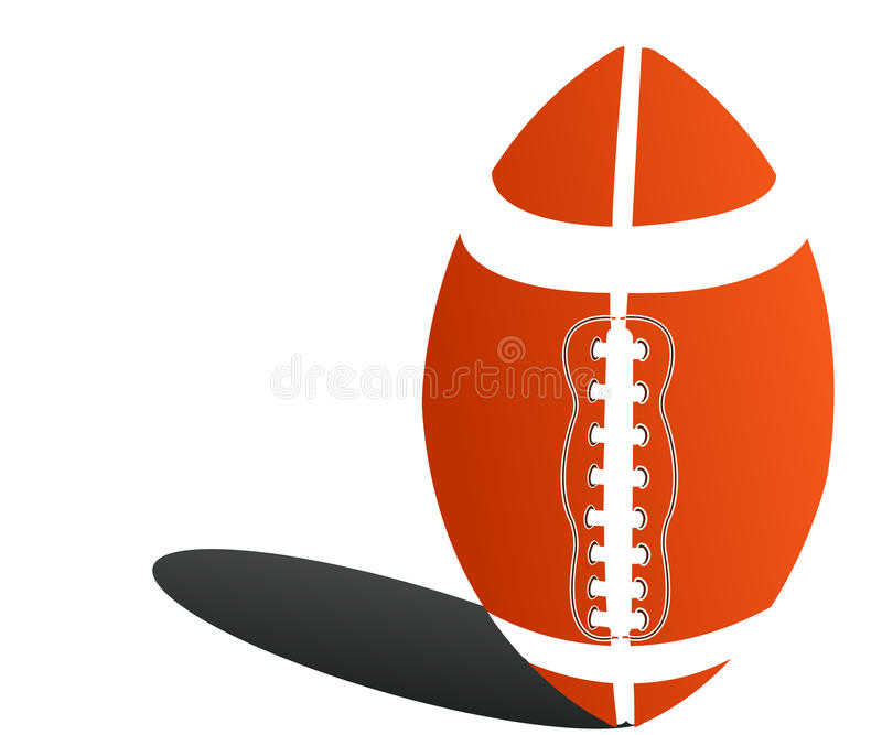 Rugby ball royalty free illustration