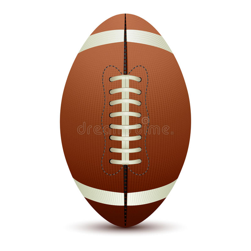 Rugby Ball. Illustration of rugby ball on isolated white background royalty free illustration