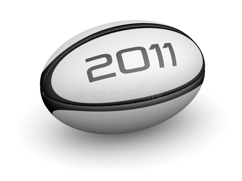 Rugby ball for 2011. Rugby ball ready for placement into advertisement royalty free illustration