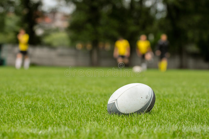 Rugby ball royalty free stock photo