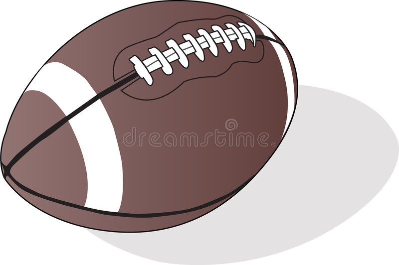 Rugby ball. Isolated on white background stock illustration