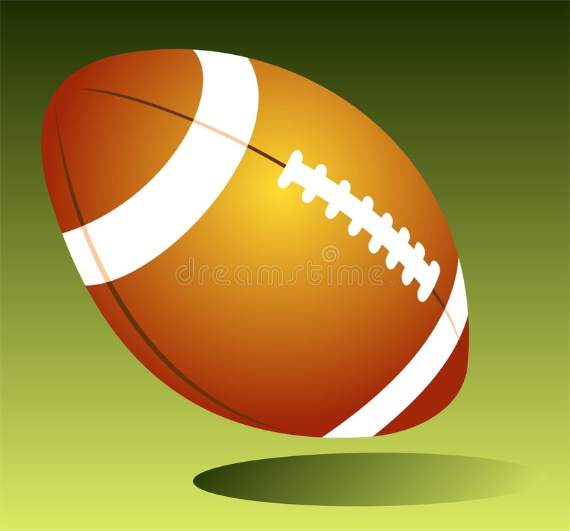 Rugby ball. Isolated on a green background royalty free illustration