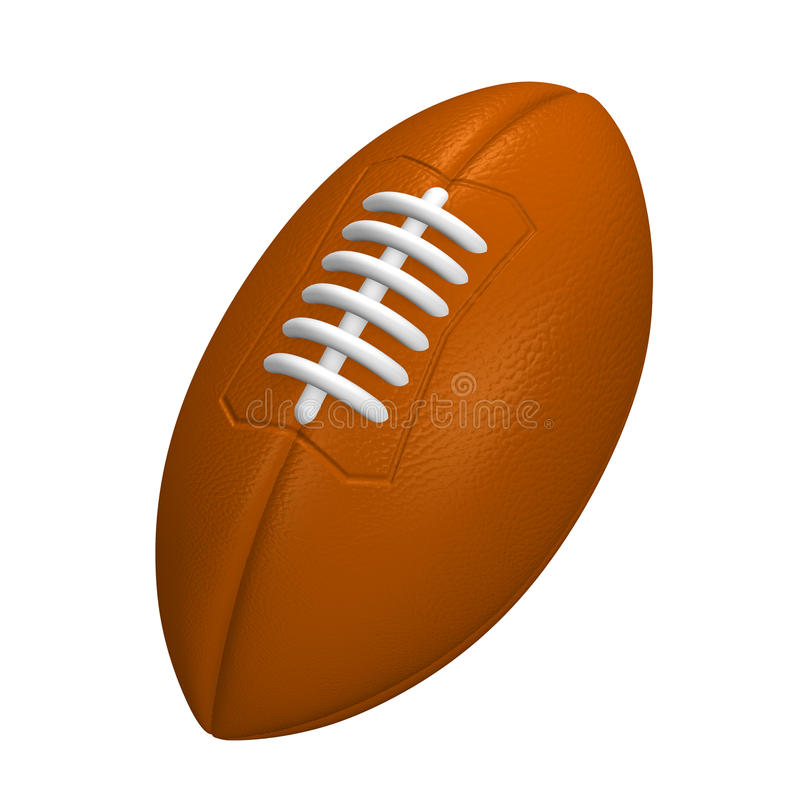 Rugby Ball. 3D render illustration. Isolated on White vector illustration