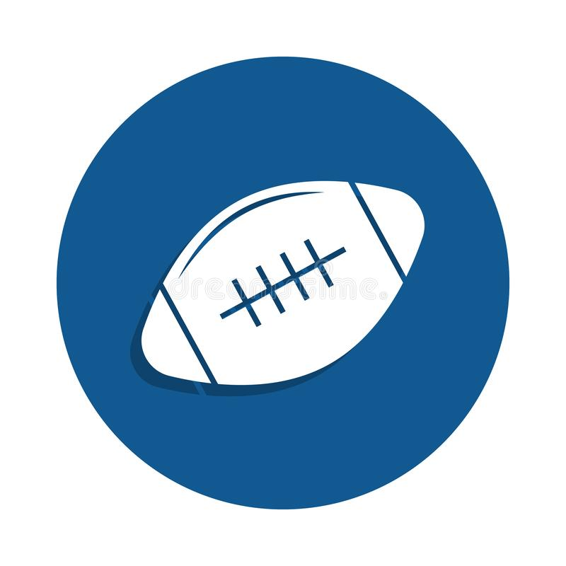 Rugby ball icon in badge style. One of sport collection icon can be used for UI, UX. On white background vector illustration