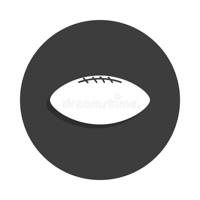 Rugby ball icon in Badge style with shadow. On white background vector illustration