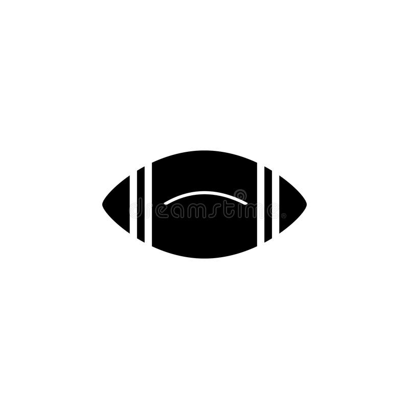 Rugby ball icon. Element of web icon for mobile concept and web apps. Isolated rugby ball icon can be used for web and mobile. On white background stock illustration
