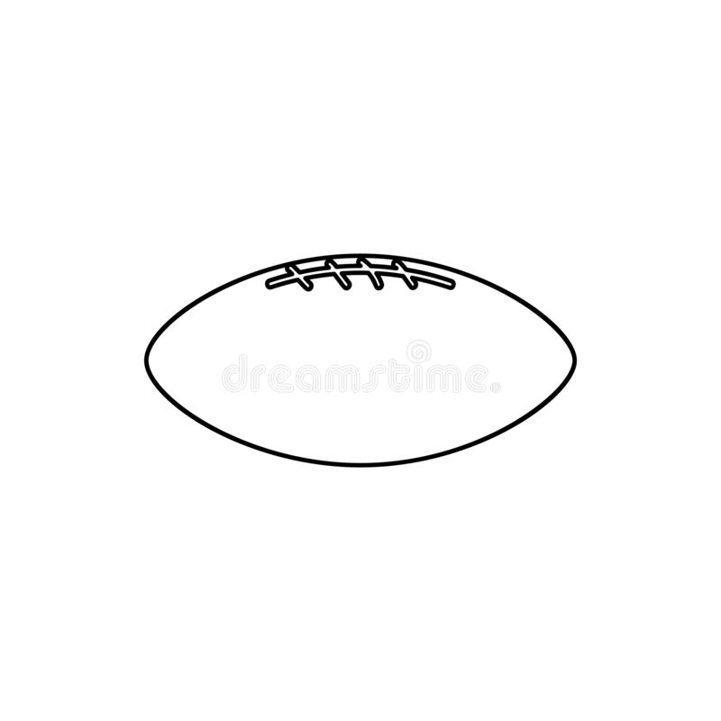 Rugby ball icon. Element of web for mobile concept and web apps icon. Thin line icon for website design and development, app. Development on white background vector illustration