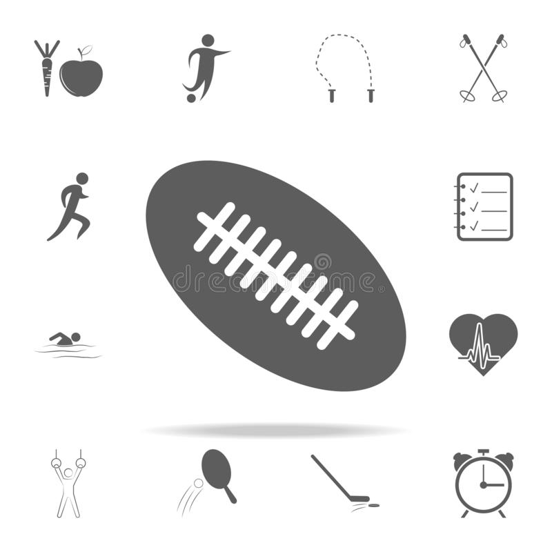 Rugby ball icon. Sport icons universal set for web and mobile. On white background stock illustration