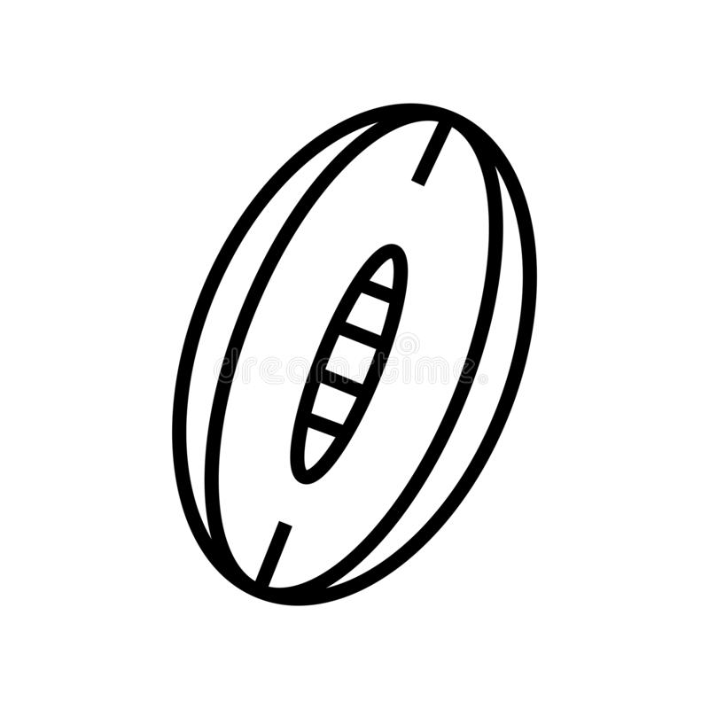 Rugby Ball icon vector isolated on white background, Rugby Ball sign , linear symbol and stroke design elements in outline style. Rugby Ball icon vector isolated royalty free illustration