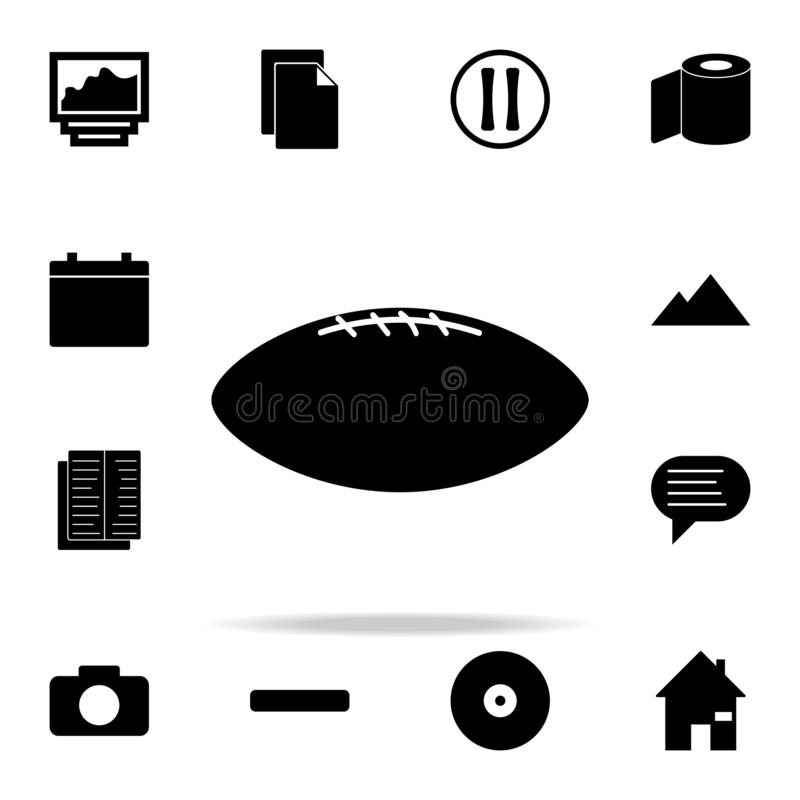 Rugby ball icon. web icons universal set for web and mobile. On white background stock illustration