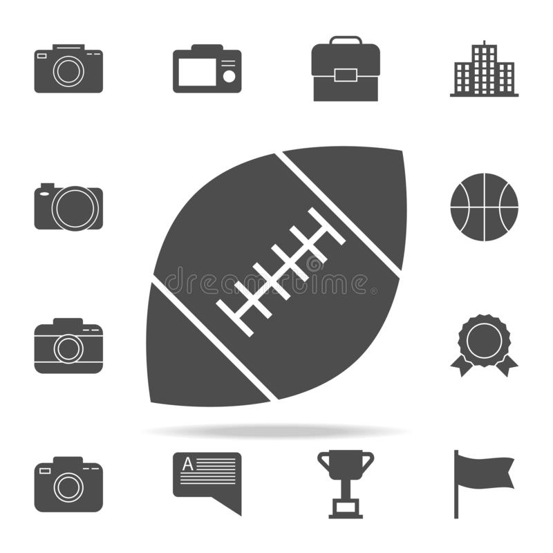 rugby ball icon. web icons universal set for web and mobile royalty free illustration