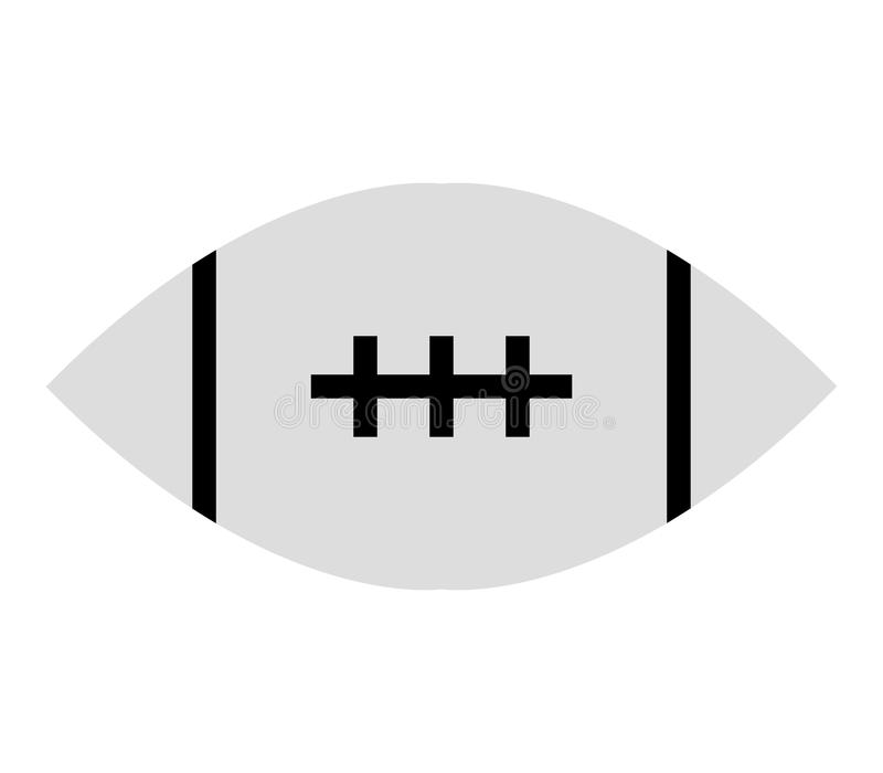 Rugby ball icon stock illustration