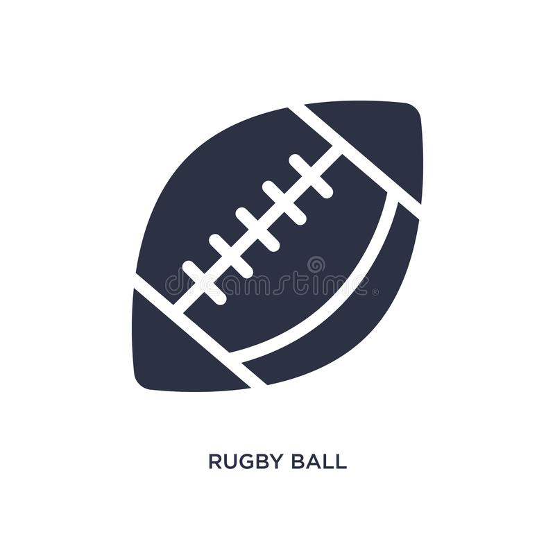 Rugby ball icon on white background. Simple element illustration from free time concept. Rugby ball icon. Simple element illustration from free time concept vector illustration