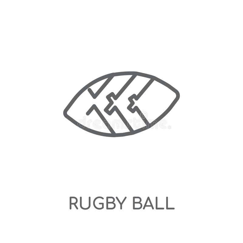 Rugby ball linear icon. Modern outline Rugby ball logo concept o. N white background from United States of America collection. Suitable for use on web apps royalty free illustration