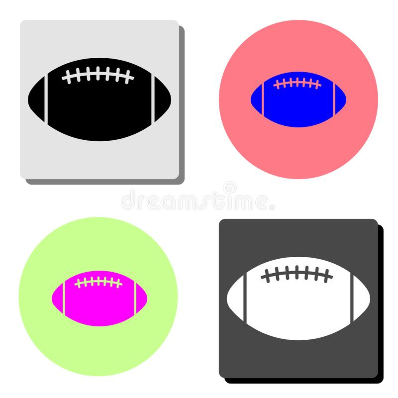 Rugby Ball. flat vector icon. Rugby Ball. simple flat vector icon illustration on four different color backgrounds royalty free illustration