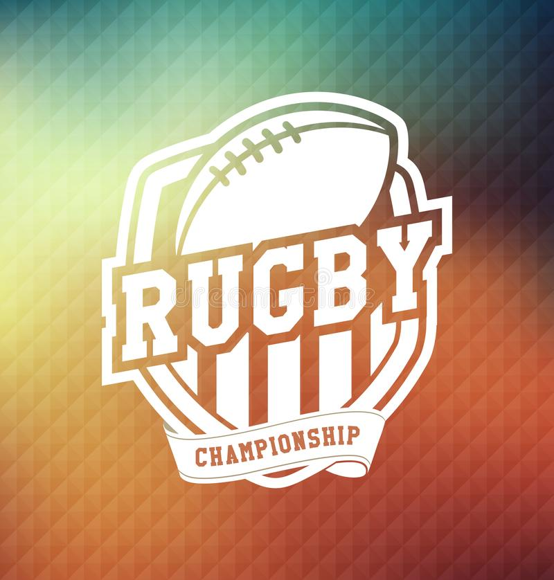 Rugby Championship Logo Sport Design Template royalty free illustration