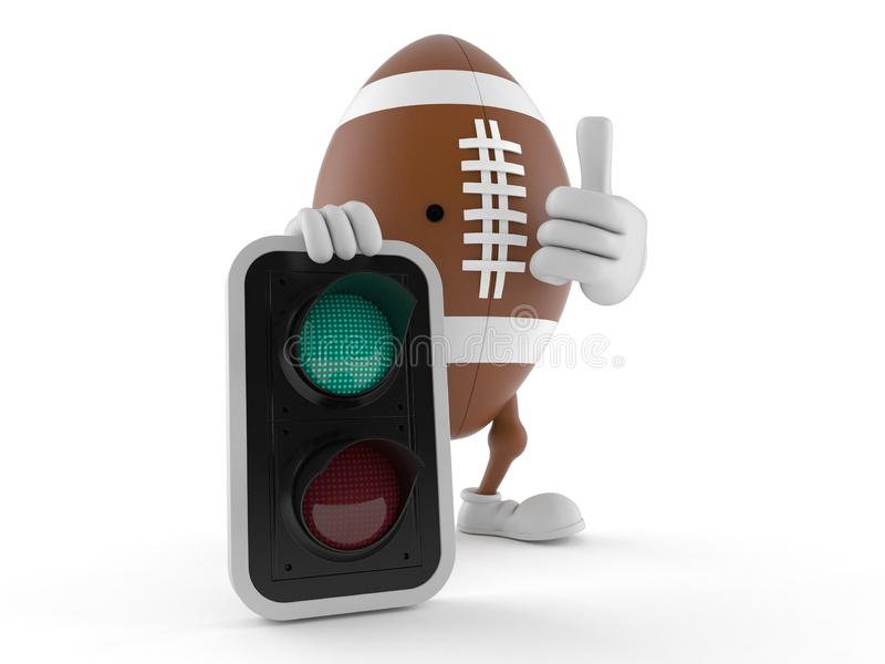 Rugby character with green light royalty free illustration