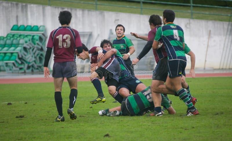 Rugby Clube de Caldas CONTRE le rugby de Evora de Clube images stock